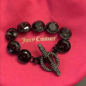Juicy Couture black rhinestone bracelet